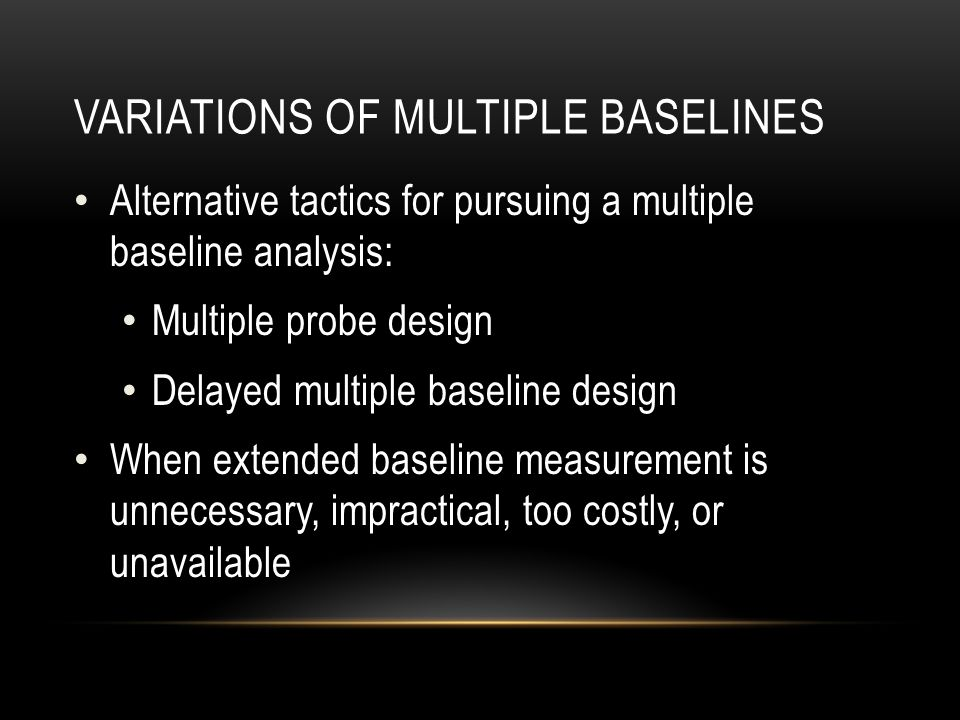 Variations of Multiple Baselines