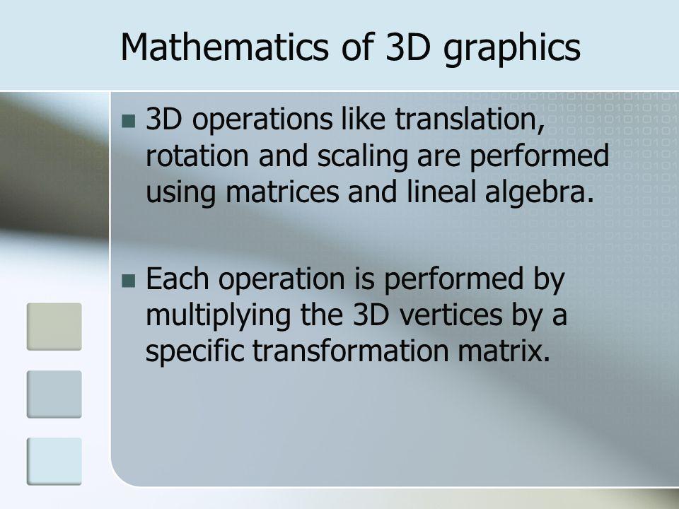 Mathematics of 3D graphics