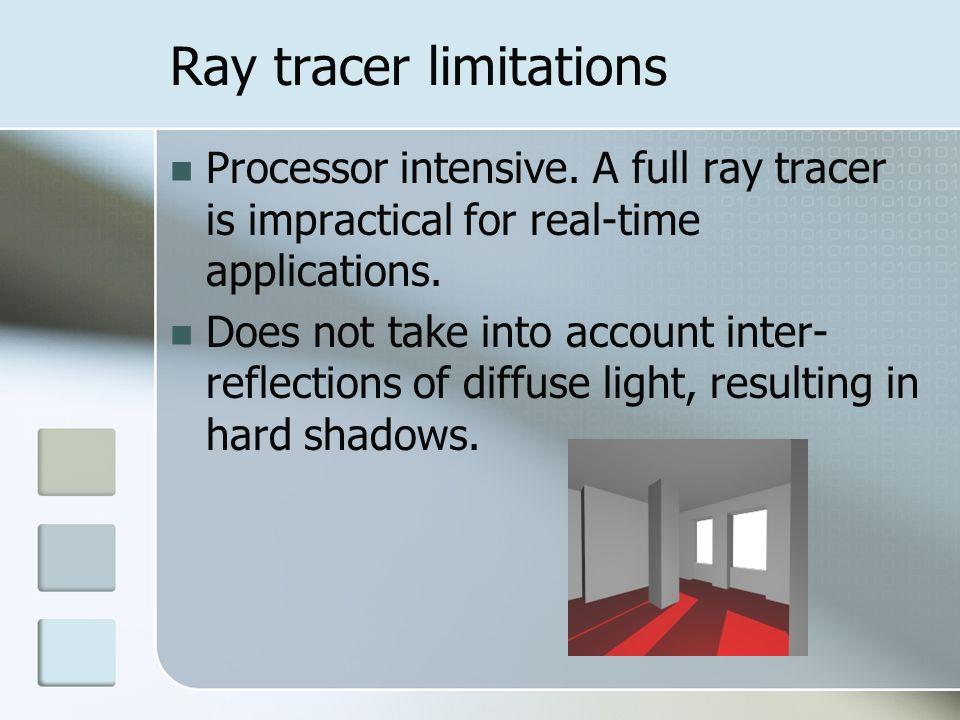 Ray tracer limitations