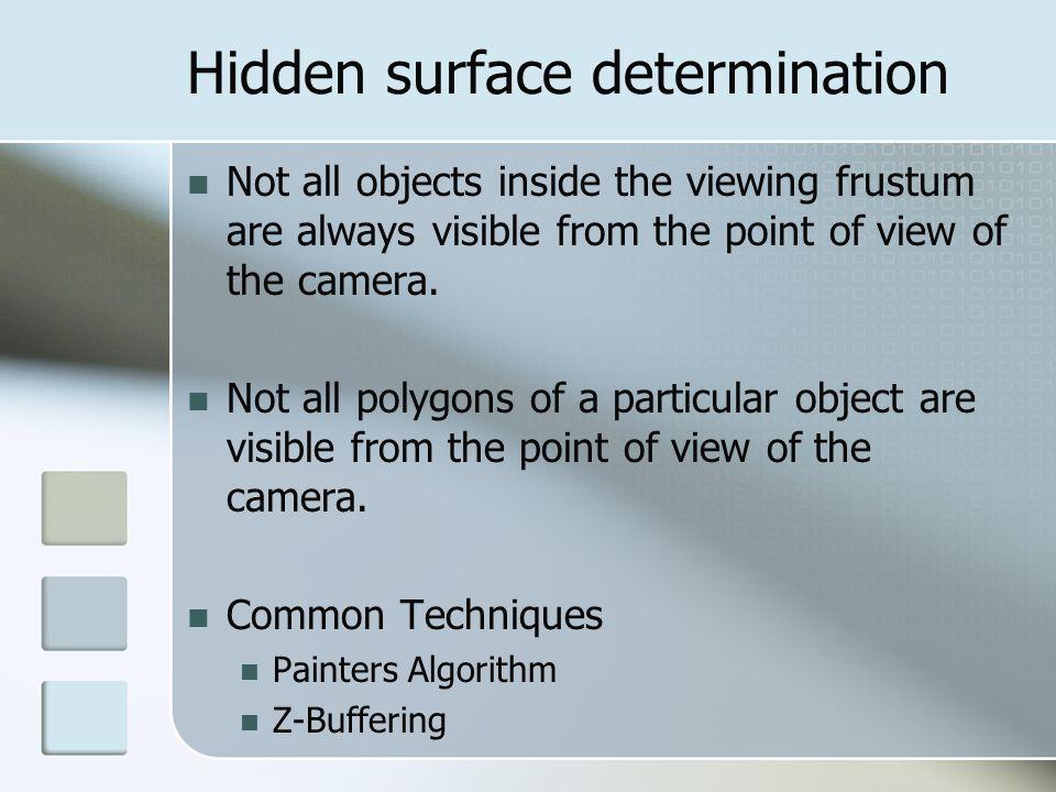Hidden surface determination
