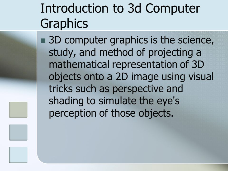 Introduction to 3d Computer Graphics