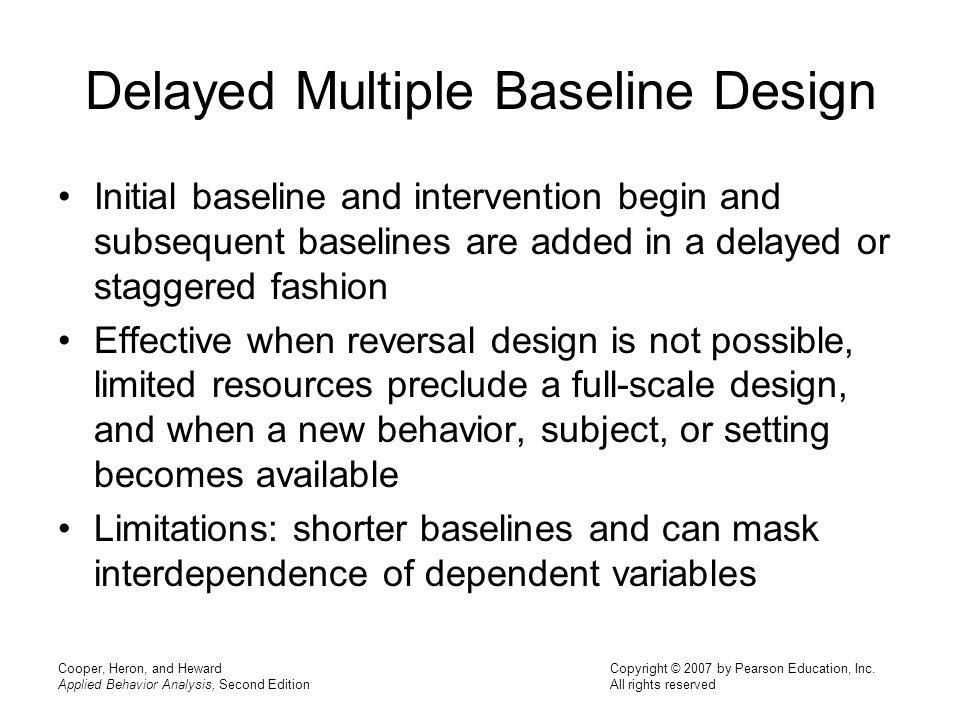 Delayed Multiple Baseline Design