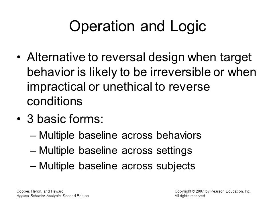 Operation and Logic