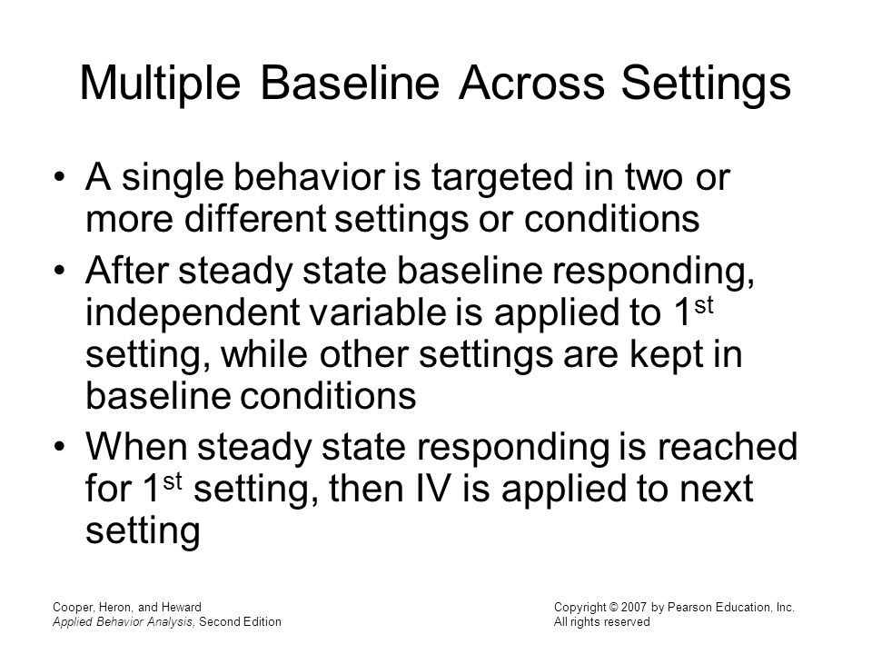 Multiple Baseline Across Settings