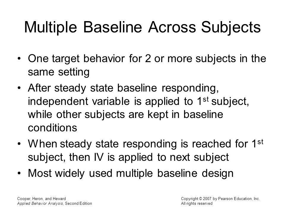 Multiple Baseline Across Subjects
