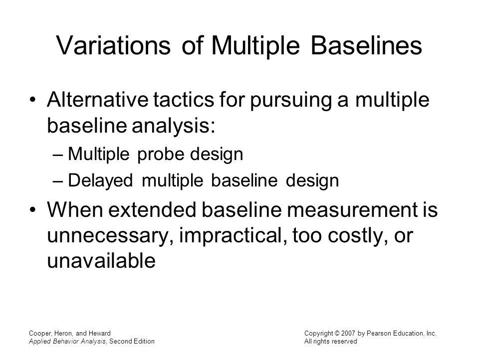 Variations of Multiple Baselines