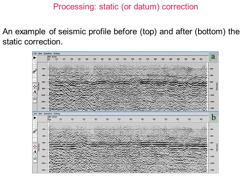 Processing: static (or datum) correction