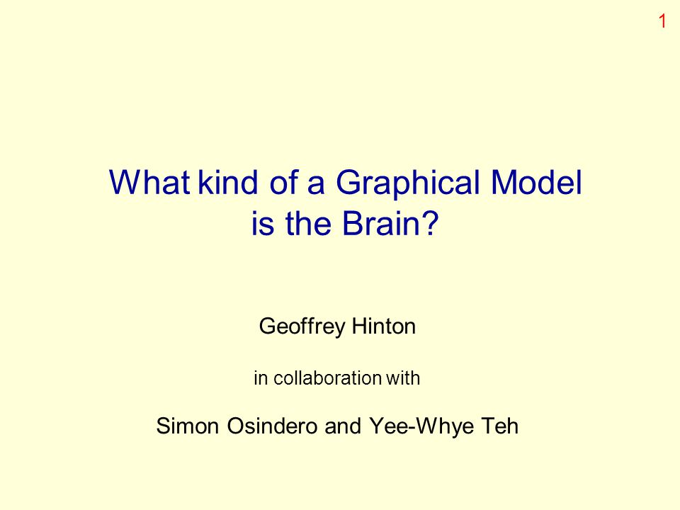 What kind of a Graphical Model is the Brain