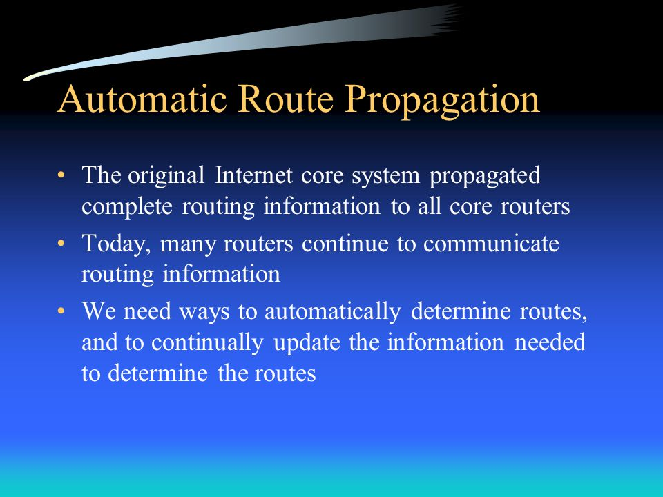 Automatic Route Propagation