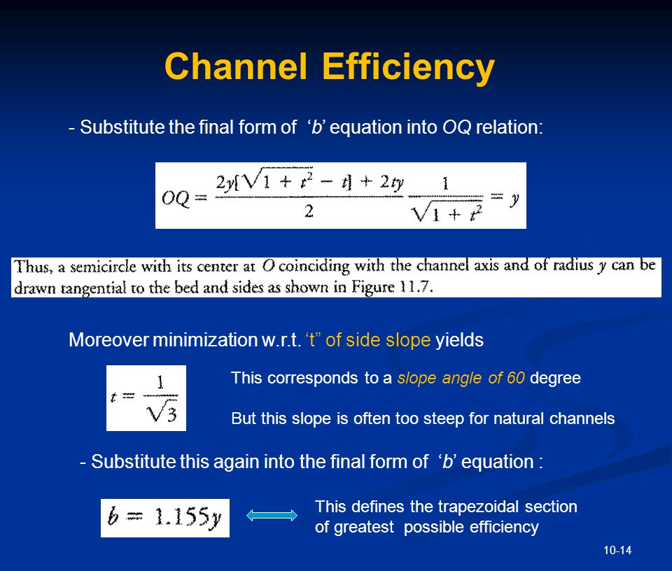 Channel Efficiency - Even if we further substitute