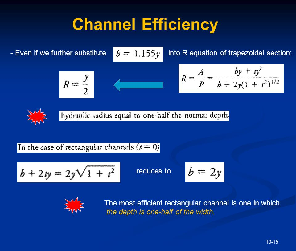 Channel Efficiency