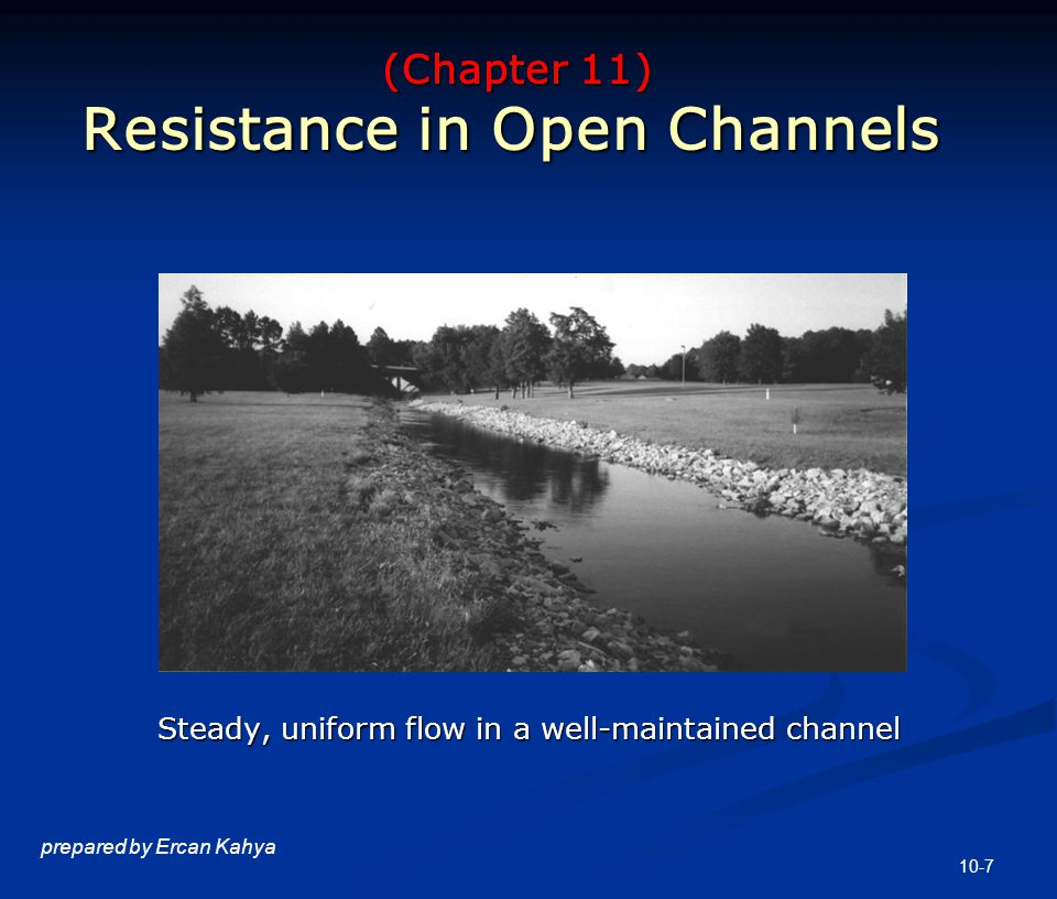 Governing Equations in Open Channel Flow