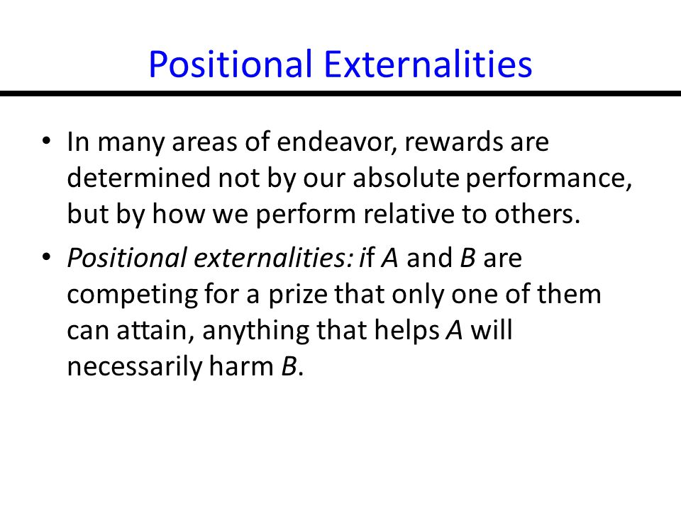 Positional Externalities
