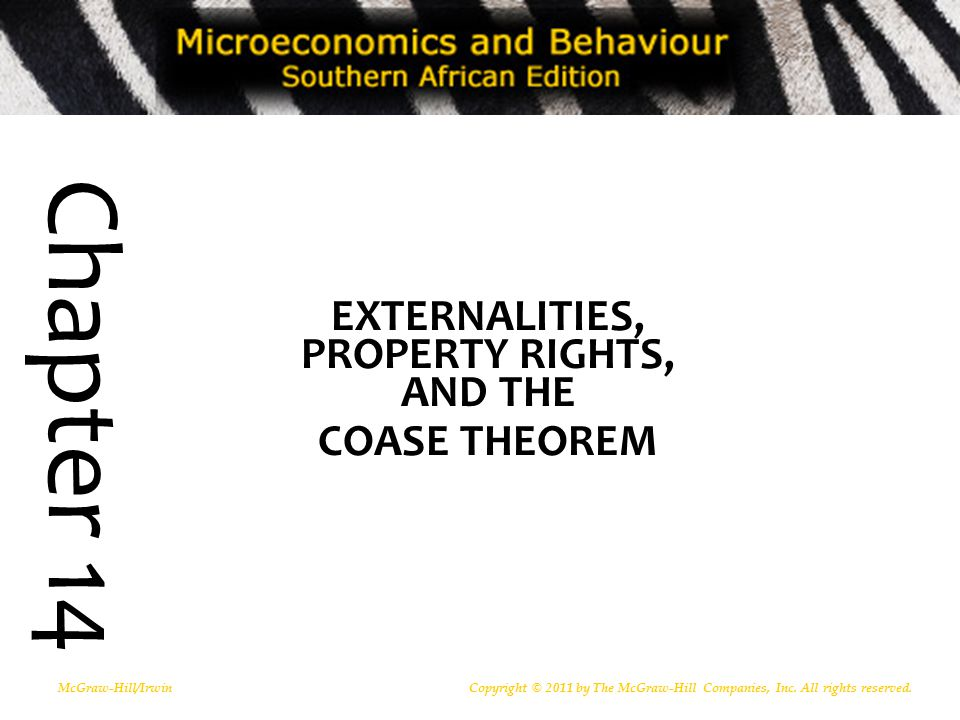 EXTERNALITIES, PROPERTY RIGHTS, AND THE COASE THEOREM