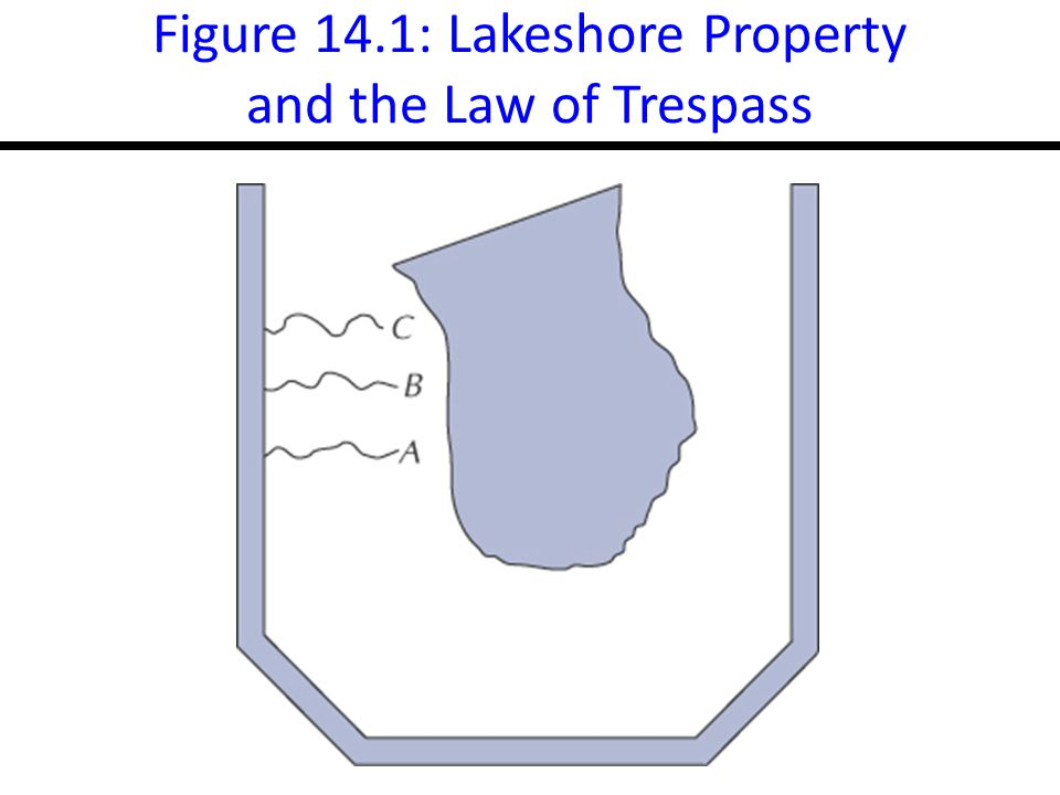 Figure 14.1: Lakeshore Property and the Law of Trespass