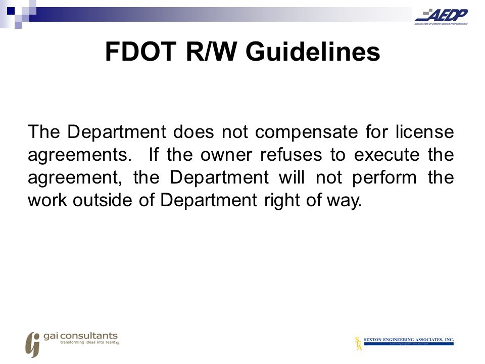 FDOT R/W Guidelines