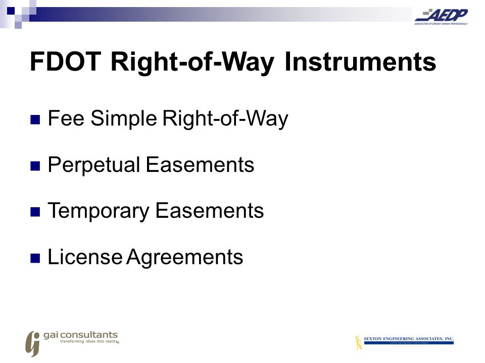 FDOT Right-of-Way Instruments