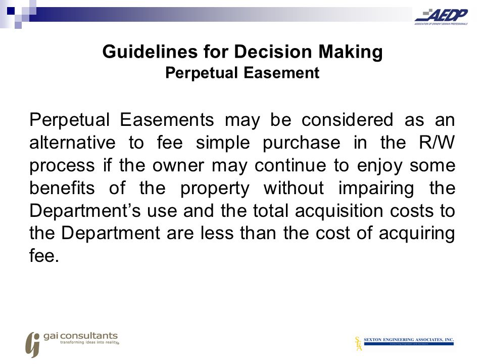 Guidelines for Decision Making Perpetual Easement
