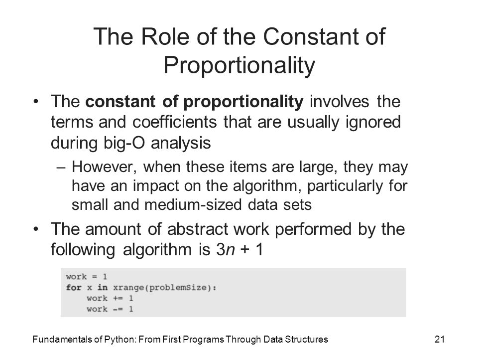 The Role of the Constant of Proportionality