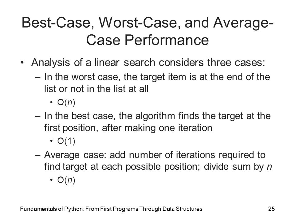Best-Case, Worst-Case, and Average-Case Performance