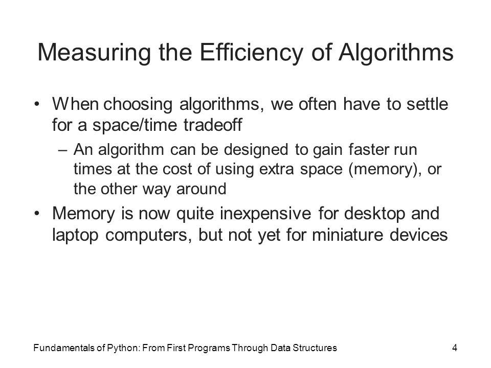 Measuring the Efficiency of Algorithms
