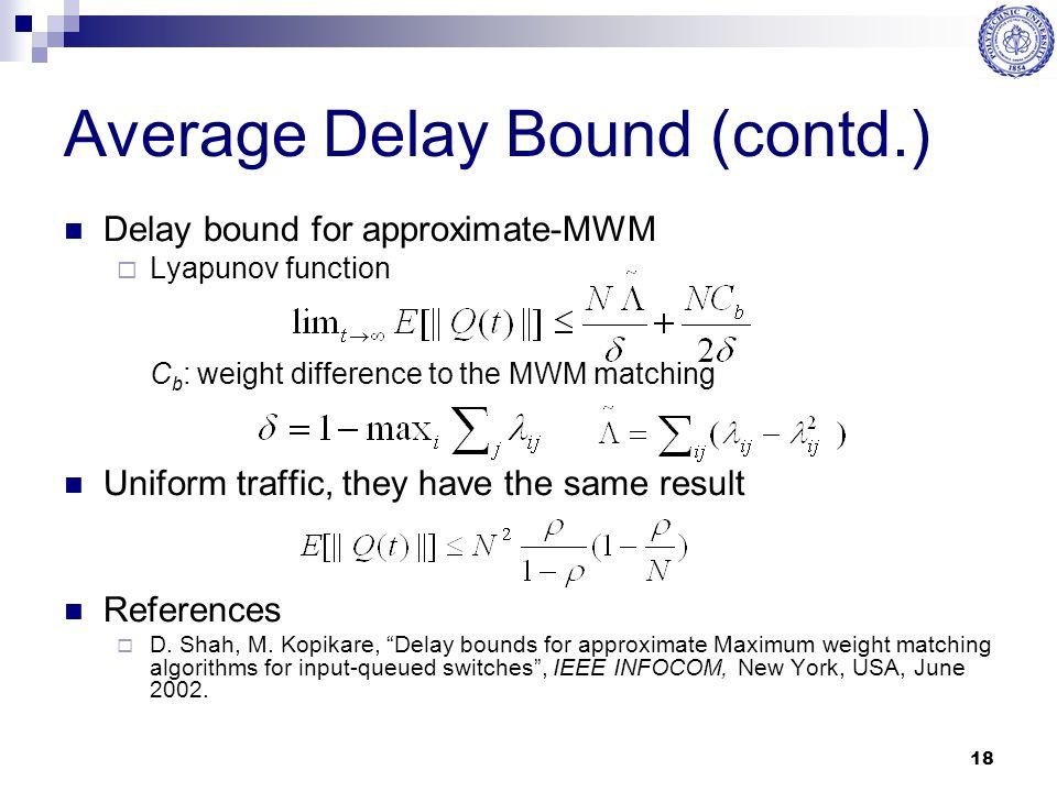 Average Delay Bound (contd.)
