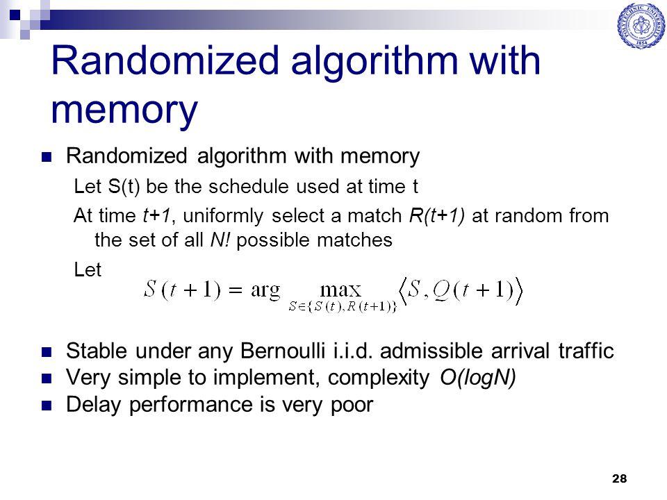 Randomized algorithm with memory