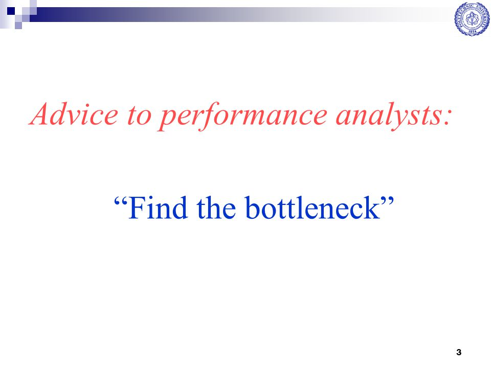 Advice to performance analysts: