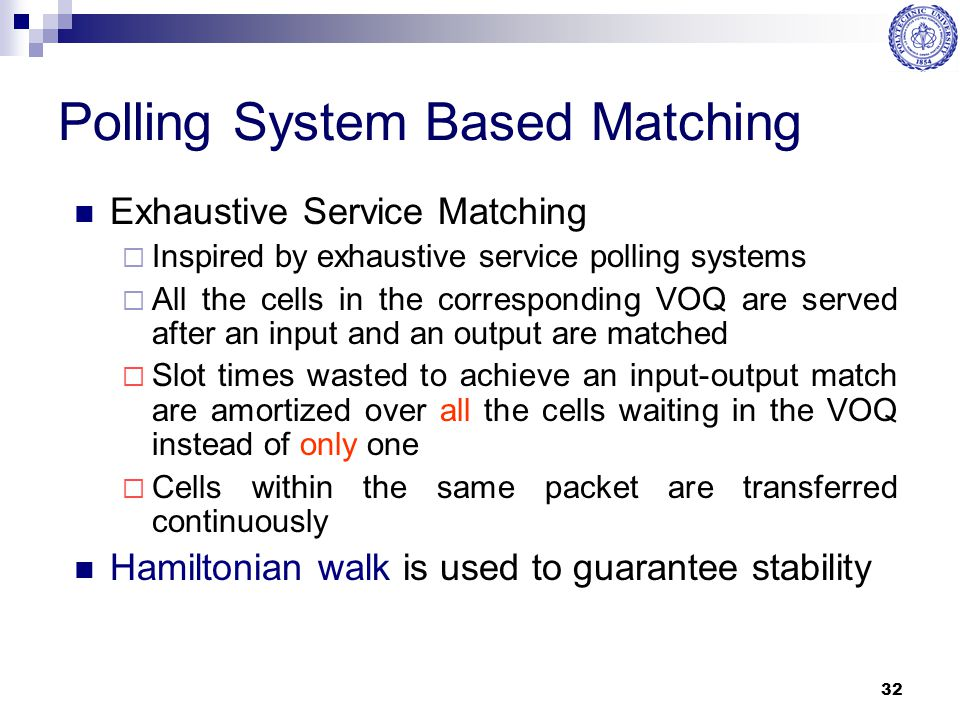 Polling System Based Matching