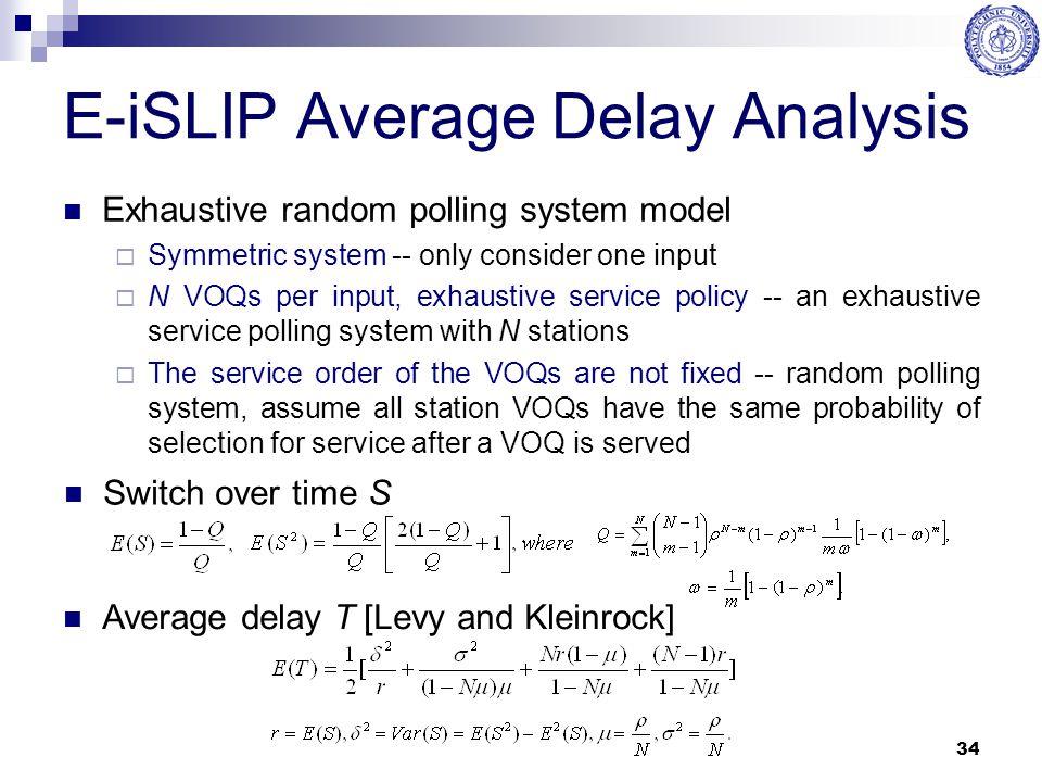 E-iSLIP Average Delay Analysis