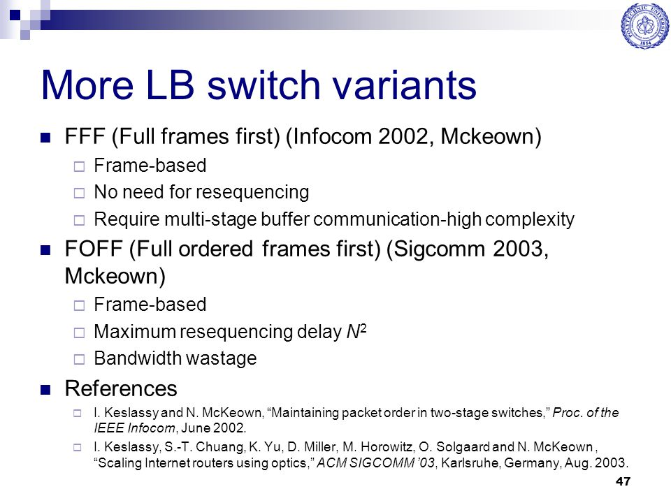 More LB switch variants