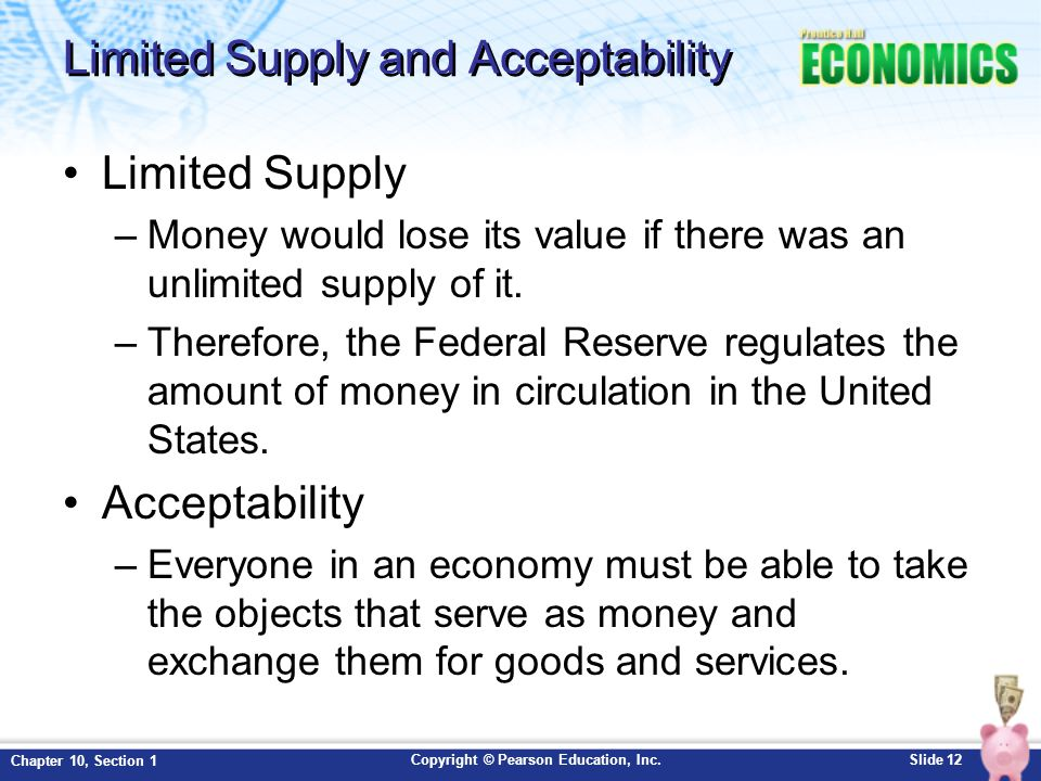 Limited Supply and Acceptability