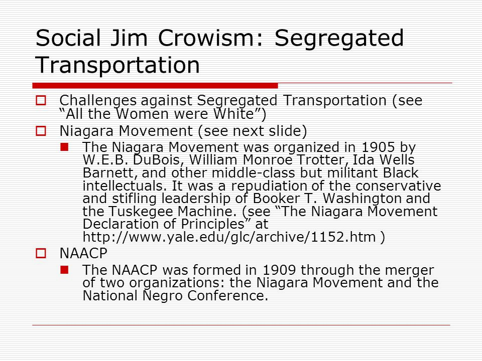 Social Jim Crowism: Segregated Transportation