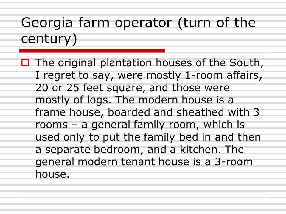 Georgia farm operator (turn of the century)