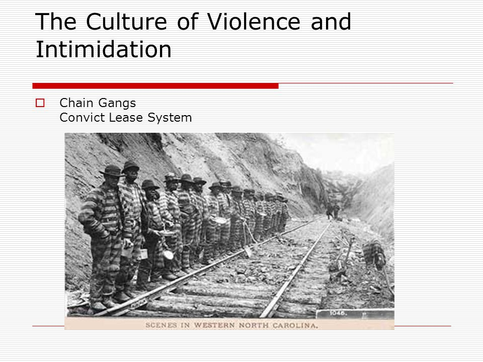 The Culture of Violence and Intimidation