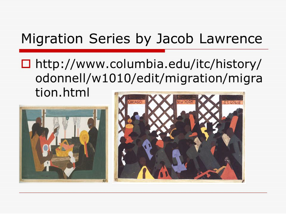 Migration Series by Jacob Lawrence