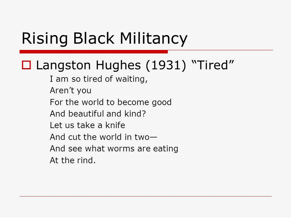 Rising Black Militancy