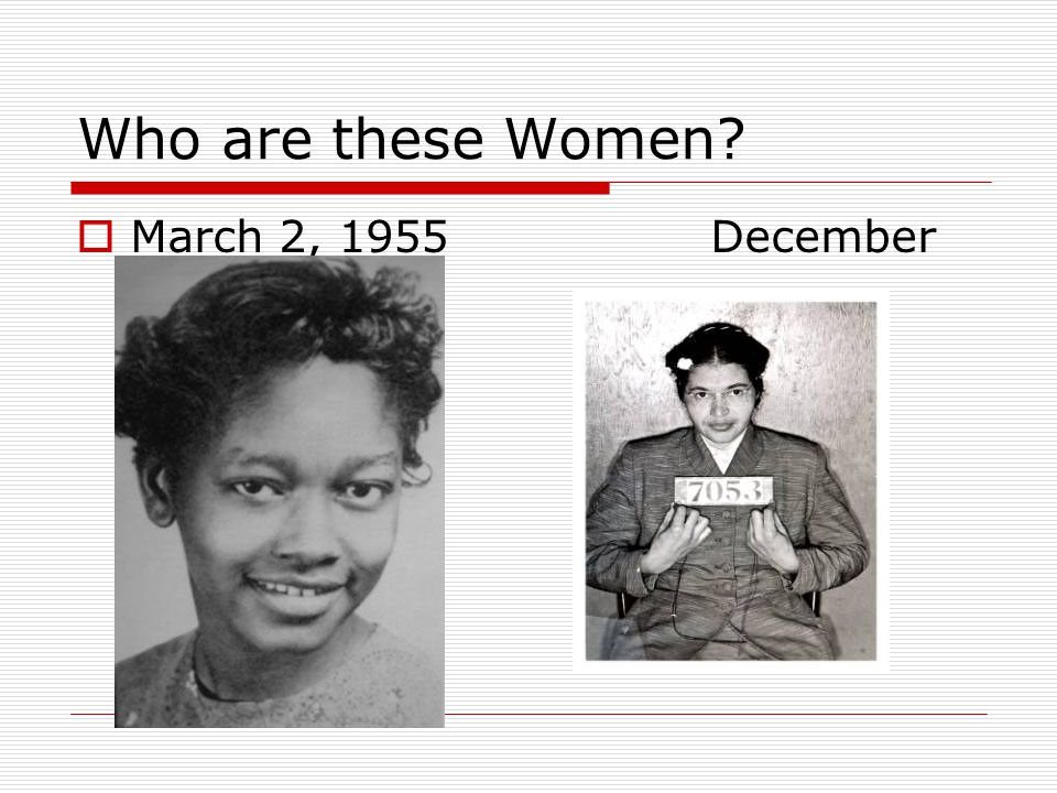 Who are these Women March 2, 1955 December 1, 1955