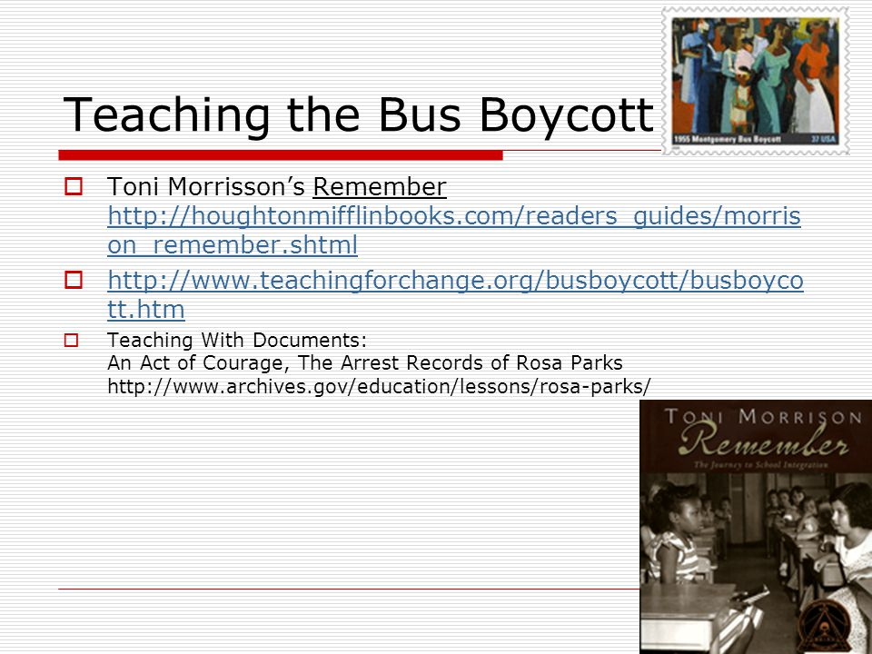 Teaching the Bus Boycott