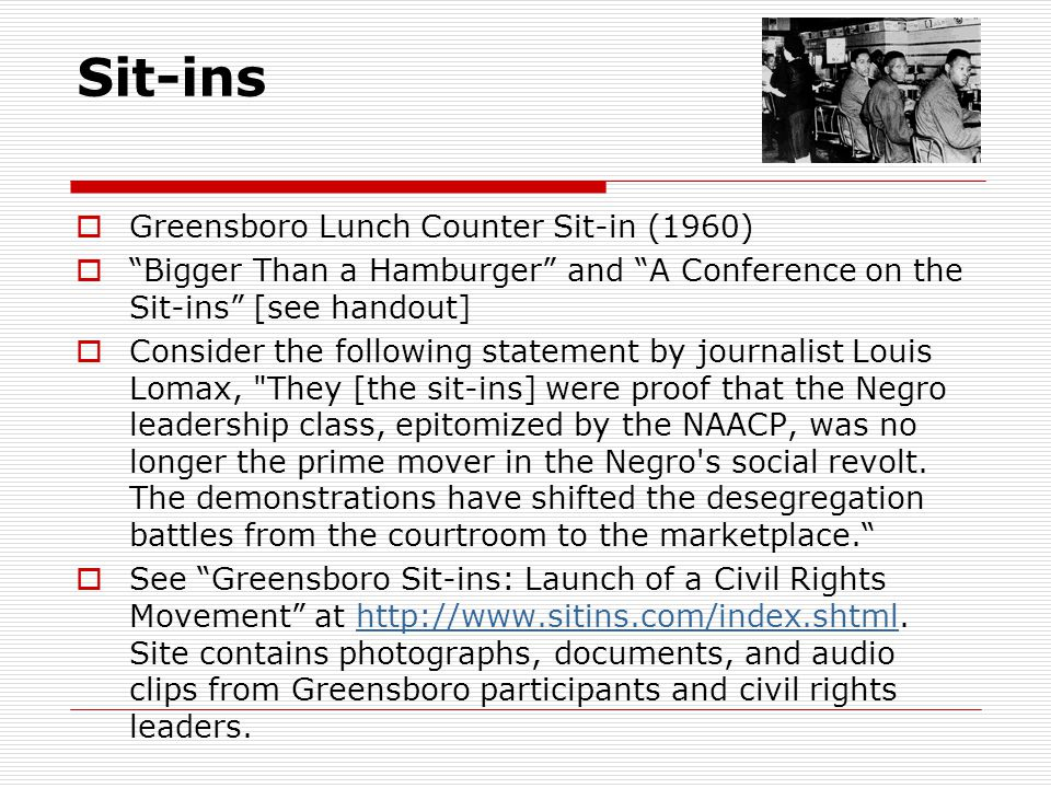Sit-ins Greensboro Lunch Counter Sit-in (1960)