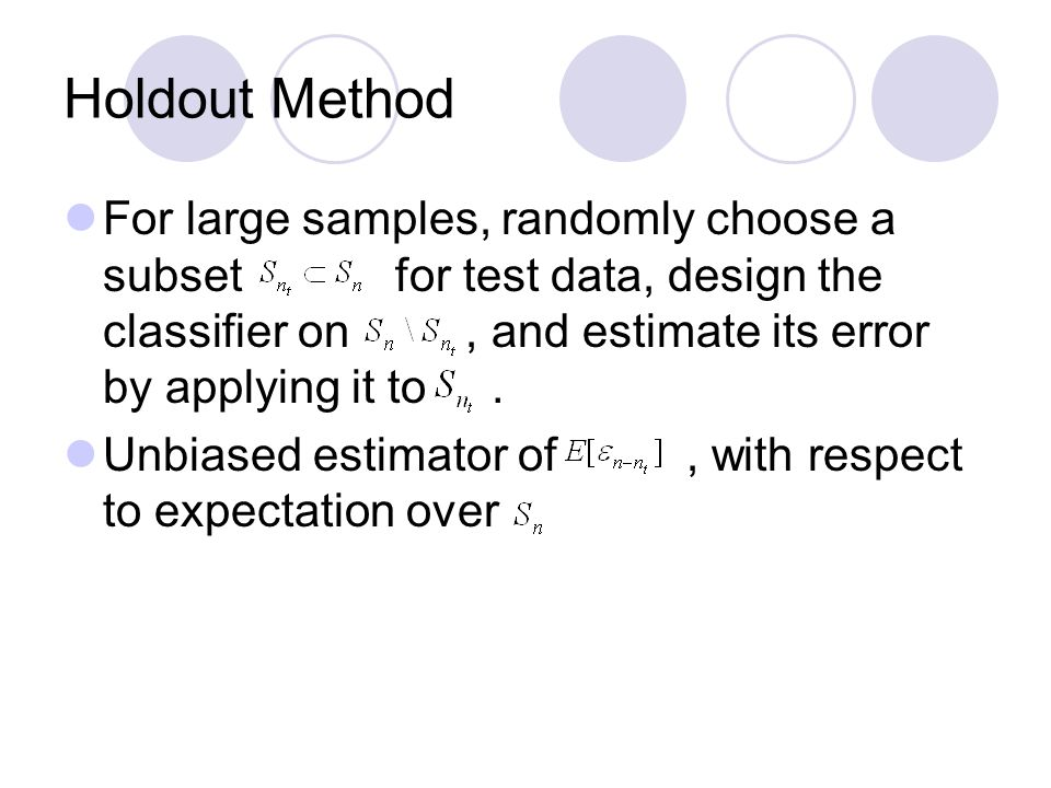 Holdout Method