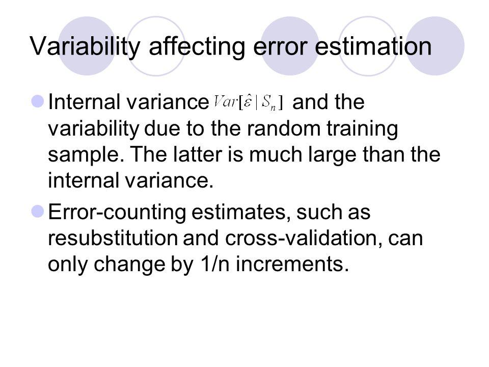 Variability affecting error estimation