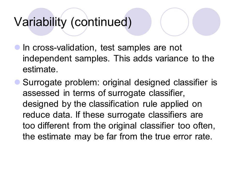 Variability (continued)