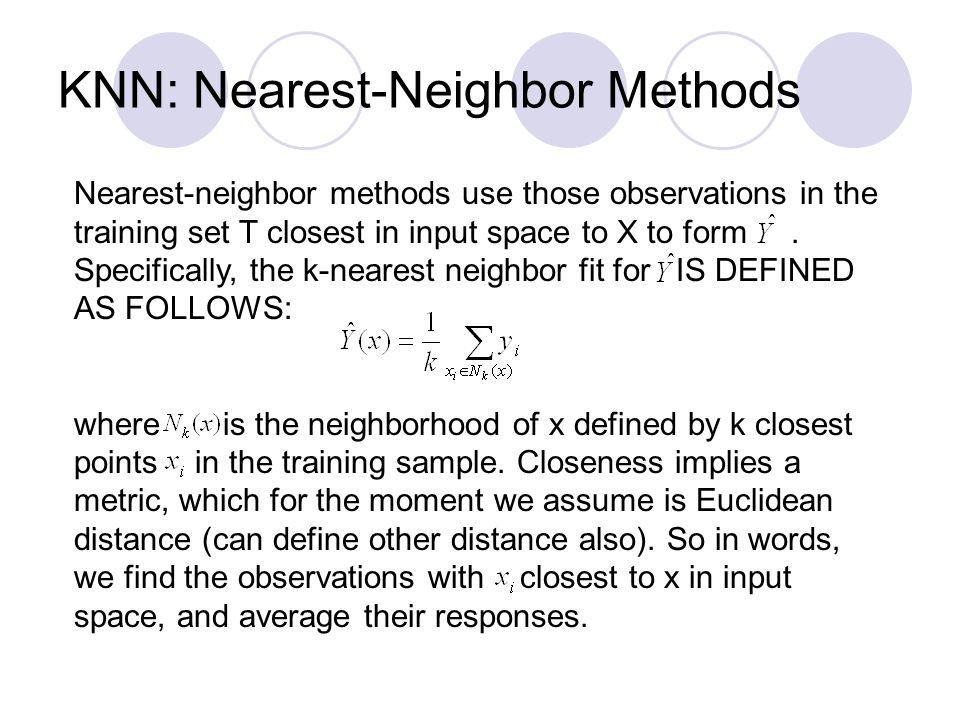 KNN: Nearest-Neighbor Methods