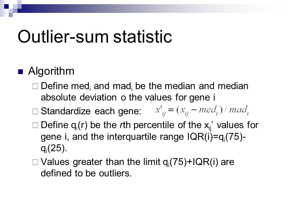 Outlier-sum statistic