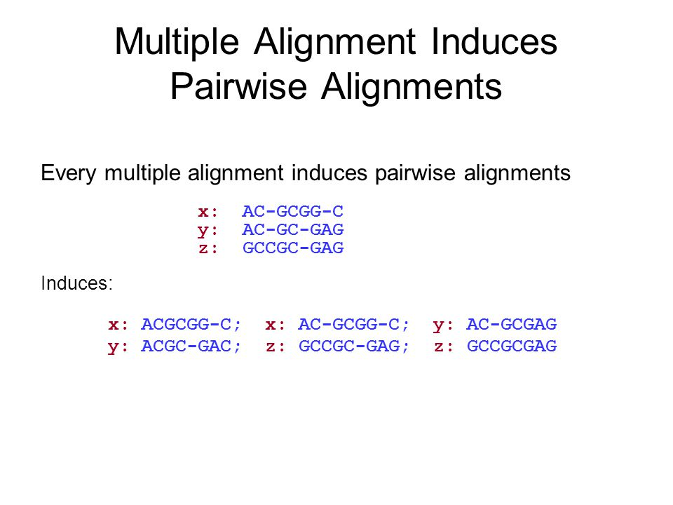 Multiple Alignment Induces Pairwise Alignments