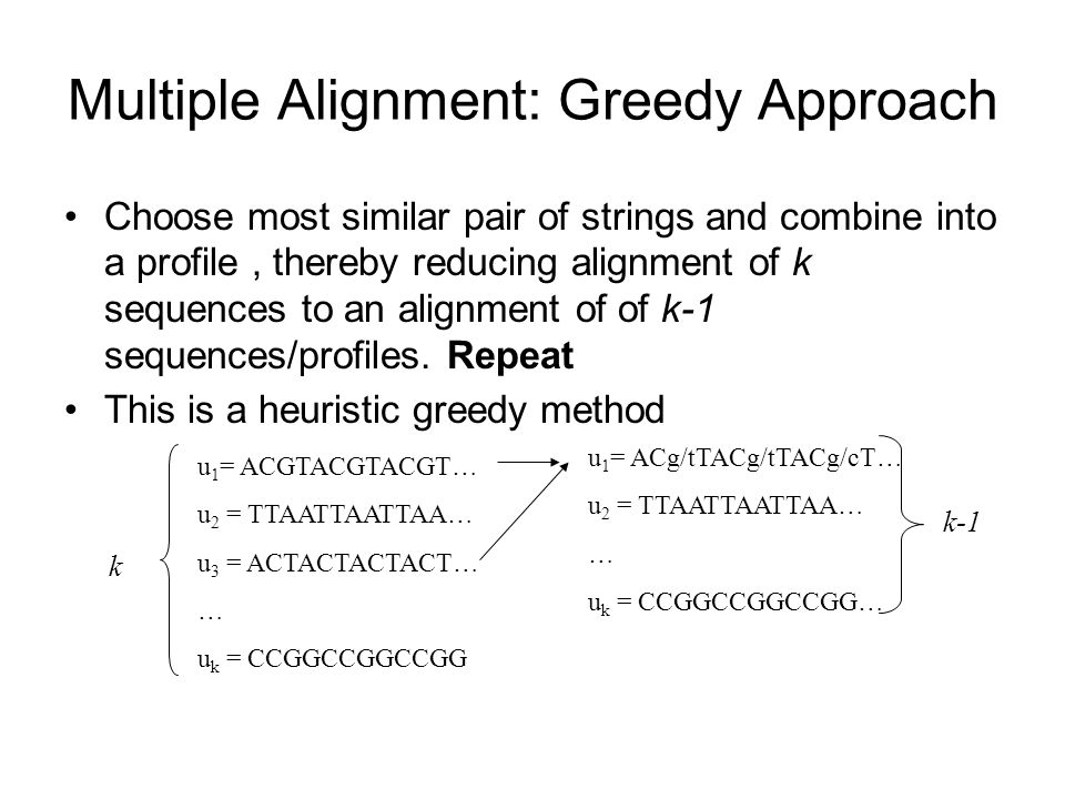 Multiple Alignment: Greedy Approach