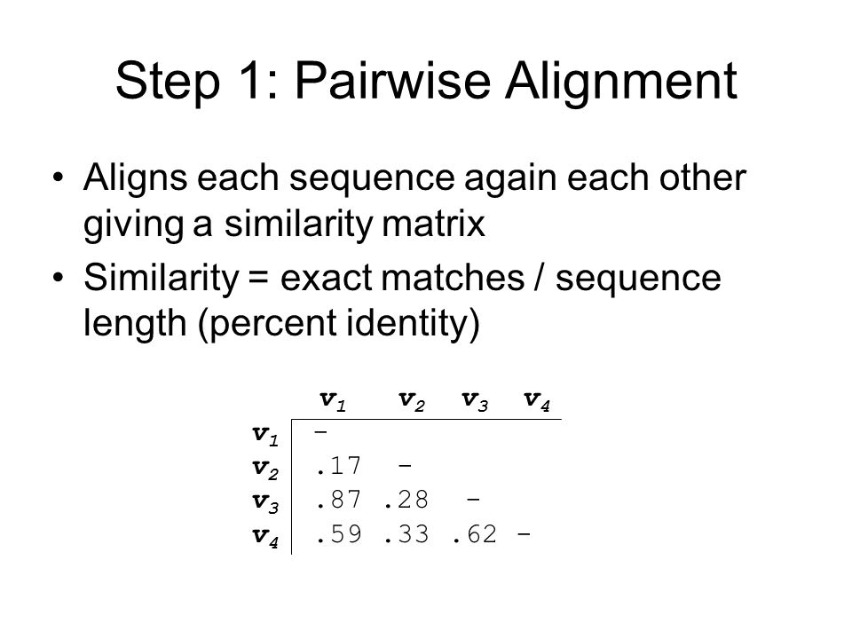 Step 1: Pairwise Alignment