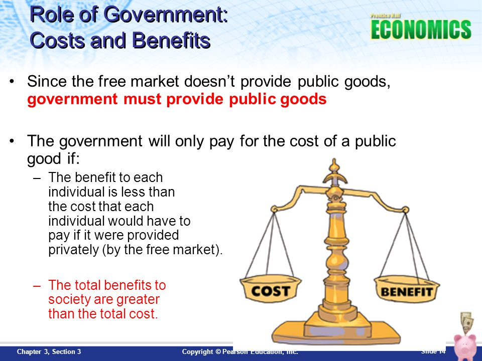 Role of Government: Costs and Benefits