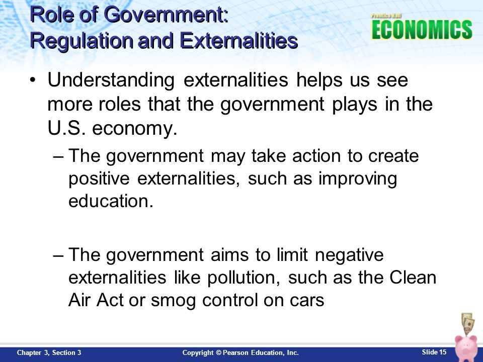 Role of Government: Regulation and Externalities